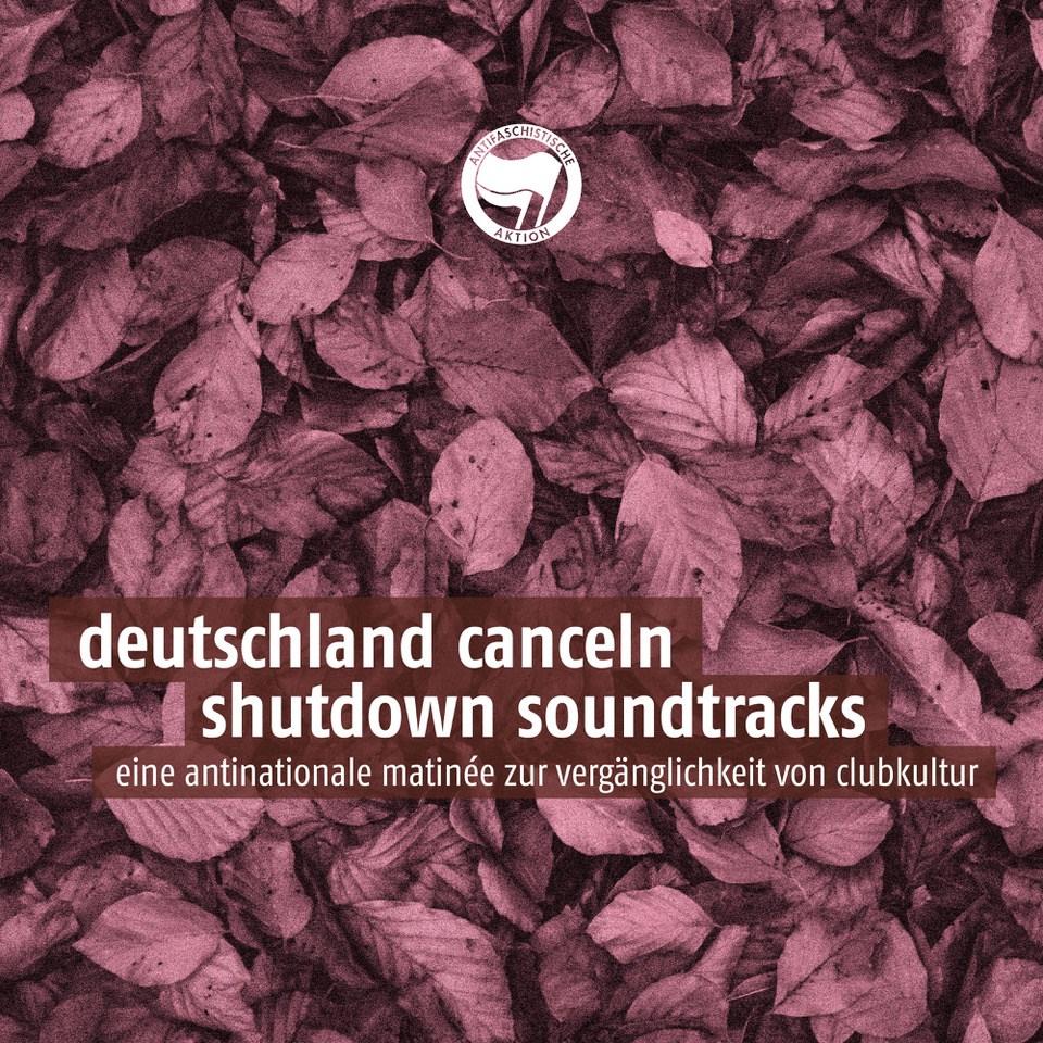 Deutschland Canceln - Shutdown Soundtracks - Flyer front