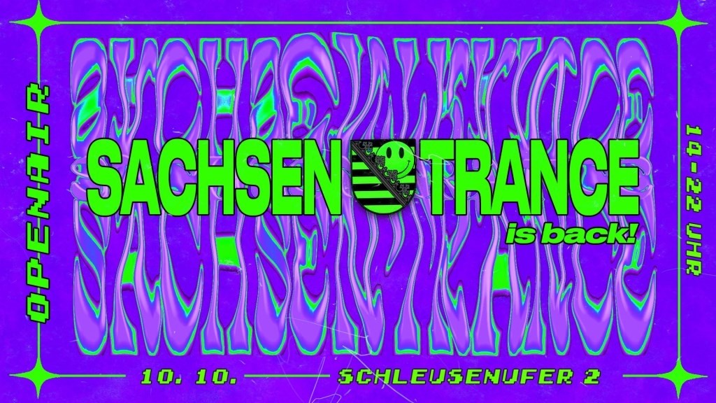 Cancelled - Sachsentrance is Back - Flyer front