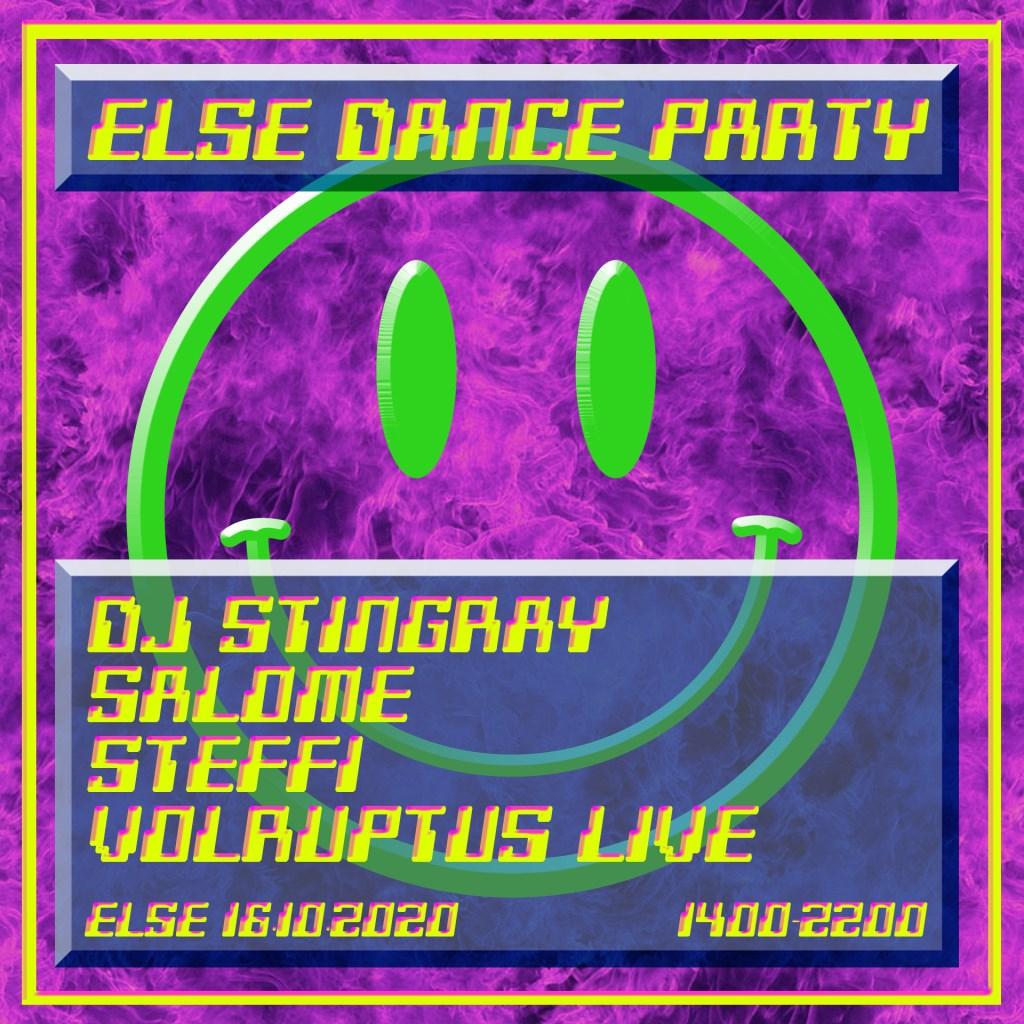 Else Dance Party w. DJ Stingray, Salome, Steffi & Volruptus - Flyer back