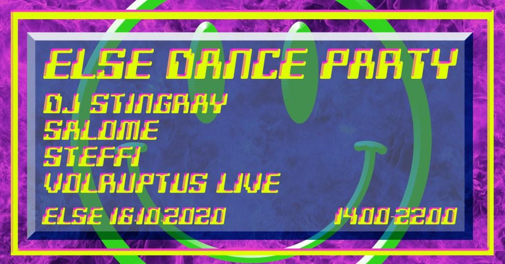 Else Dance Party w. DJ Stingray, Salome, Steffi & Volruptus - Flyer front
