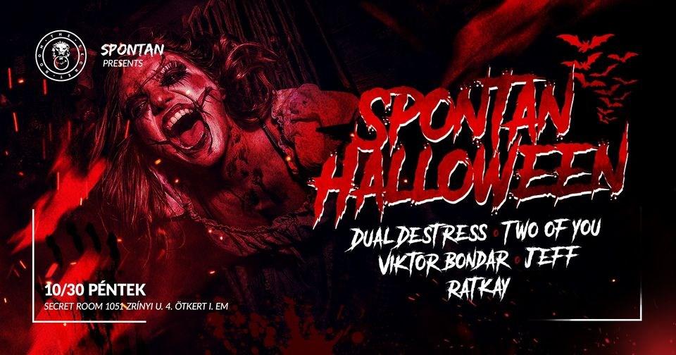 Spontan Halloween / Secret Room 10.30 / Our House Budapest / - Flyer front