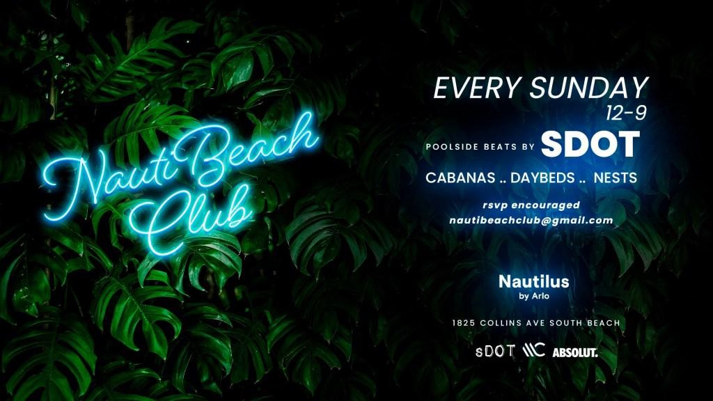 Nautibeach Club Sundays - Flyer front