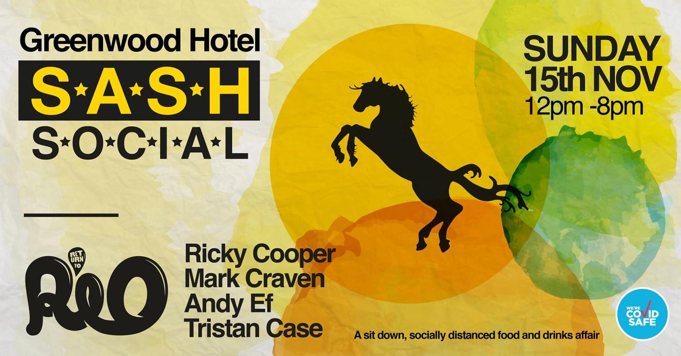 ★ Sash Social ★ Return To Rio ★ A Seated Food & Drinks Affair ★ Nov 15th ★ - Flyer front