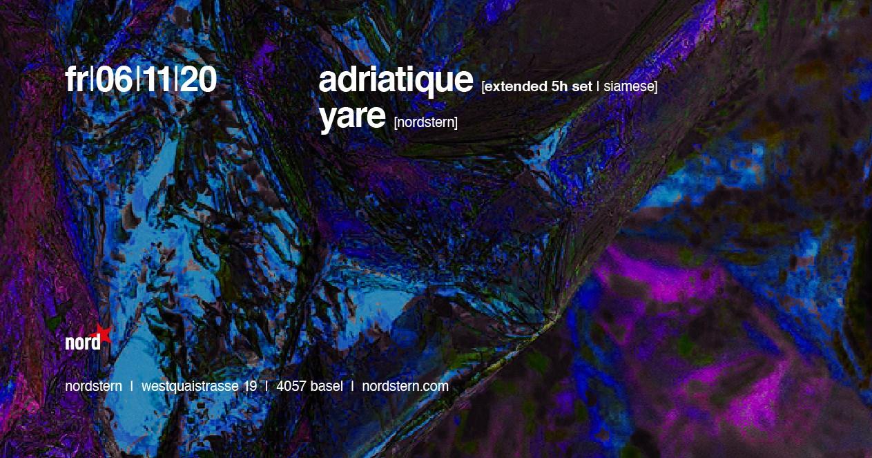 Adriatique (Extended 5h Set) - Flyer front