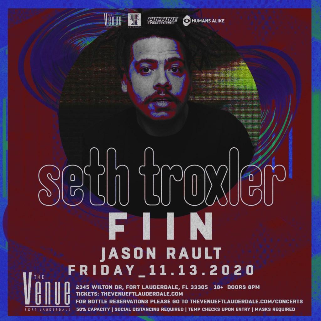 Seth Troxler // 11.13 // The Venue Fort Lauderdale - Flyer front