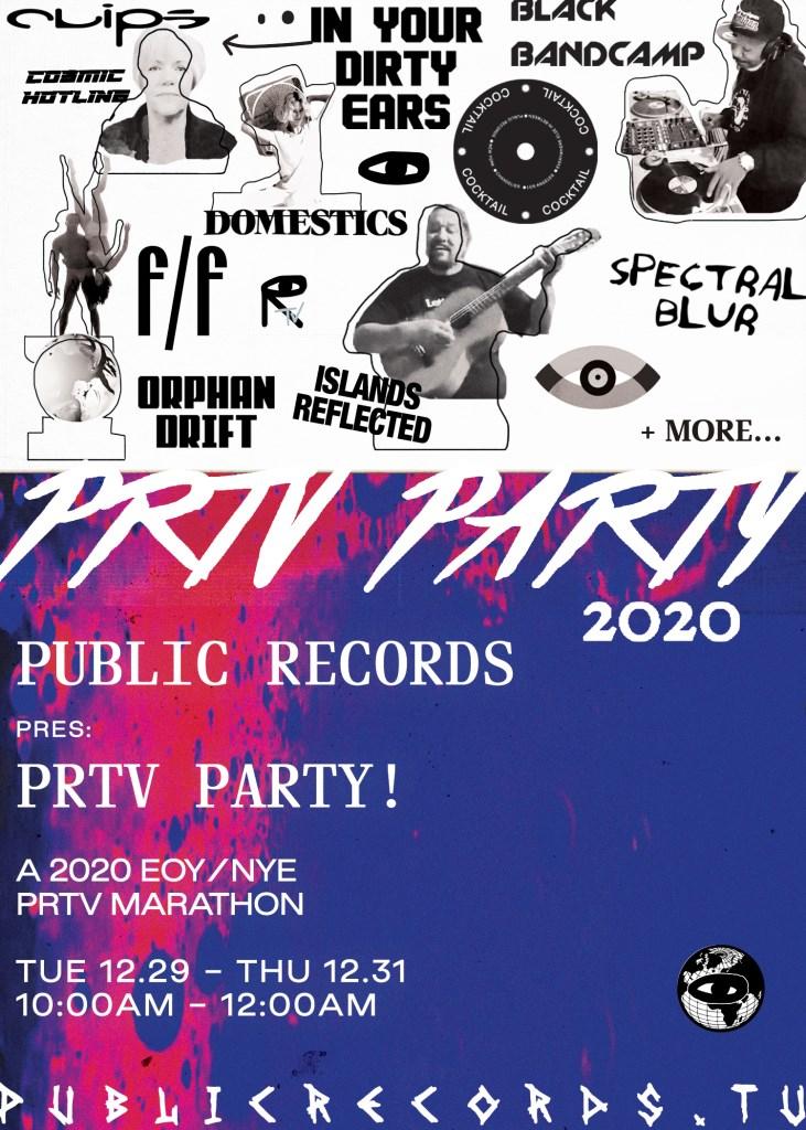 Prtv Party - 2020 Marathon NYE - Flyer front