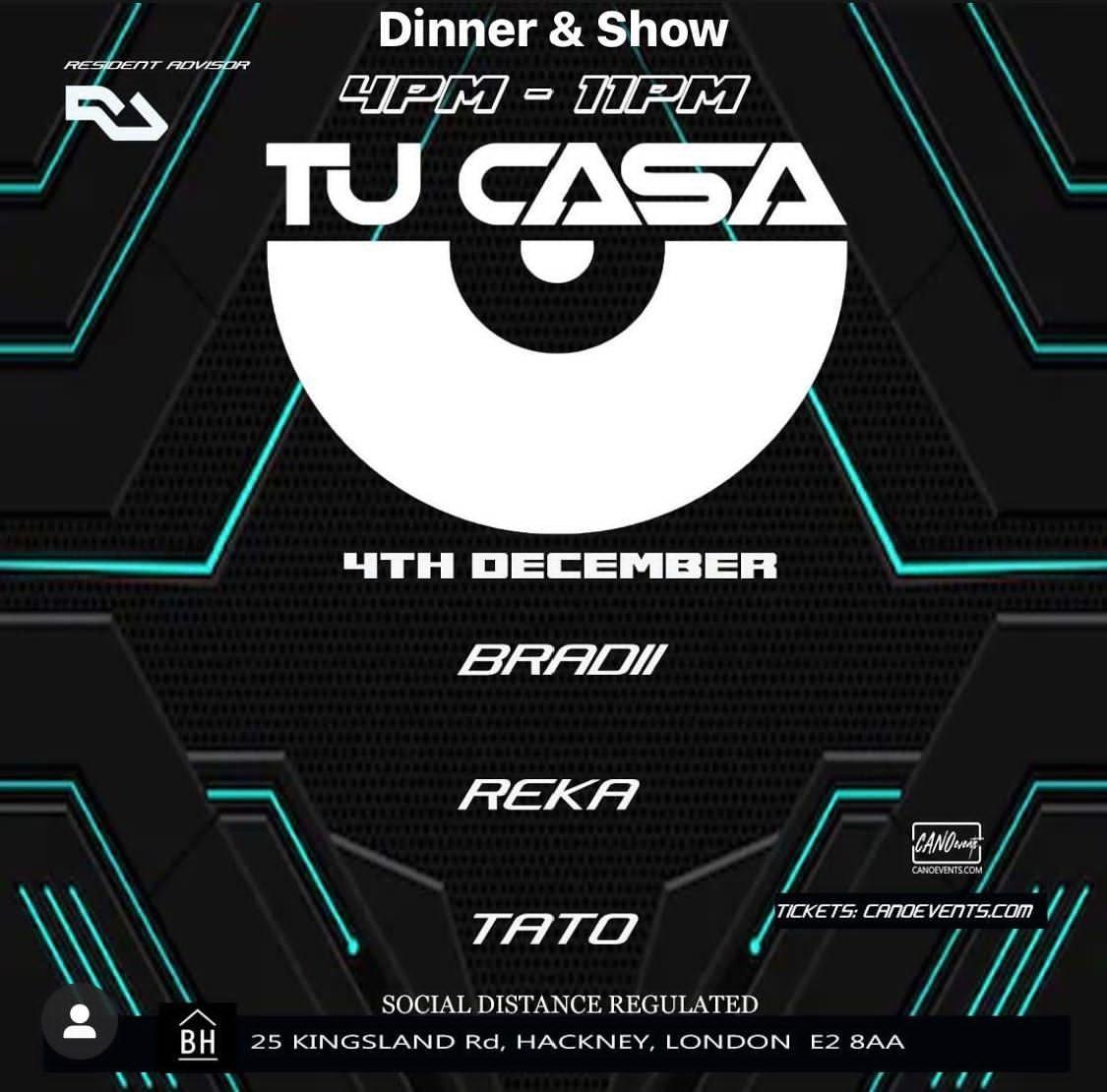 Tu Casa - Dinner & Show - Flyer front