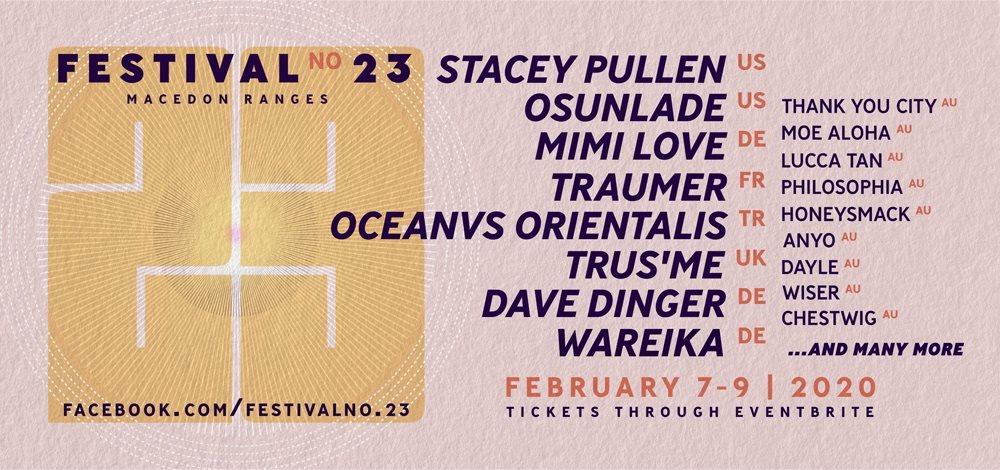 Festival No.23 - Flyer front