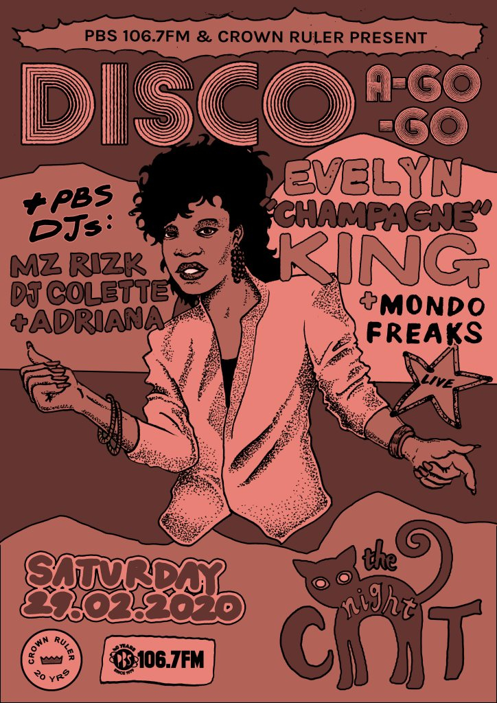 Disco A-Go-Go feat. Evelyn Champagne King with Mondo Freaks & PBS DJs - Flyer back