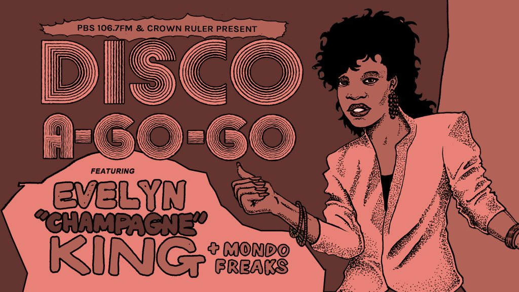 Disco A-Go-Go feat. Evelyn Champagne King with Mondo Freaks & PBS DJs - Flyer front