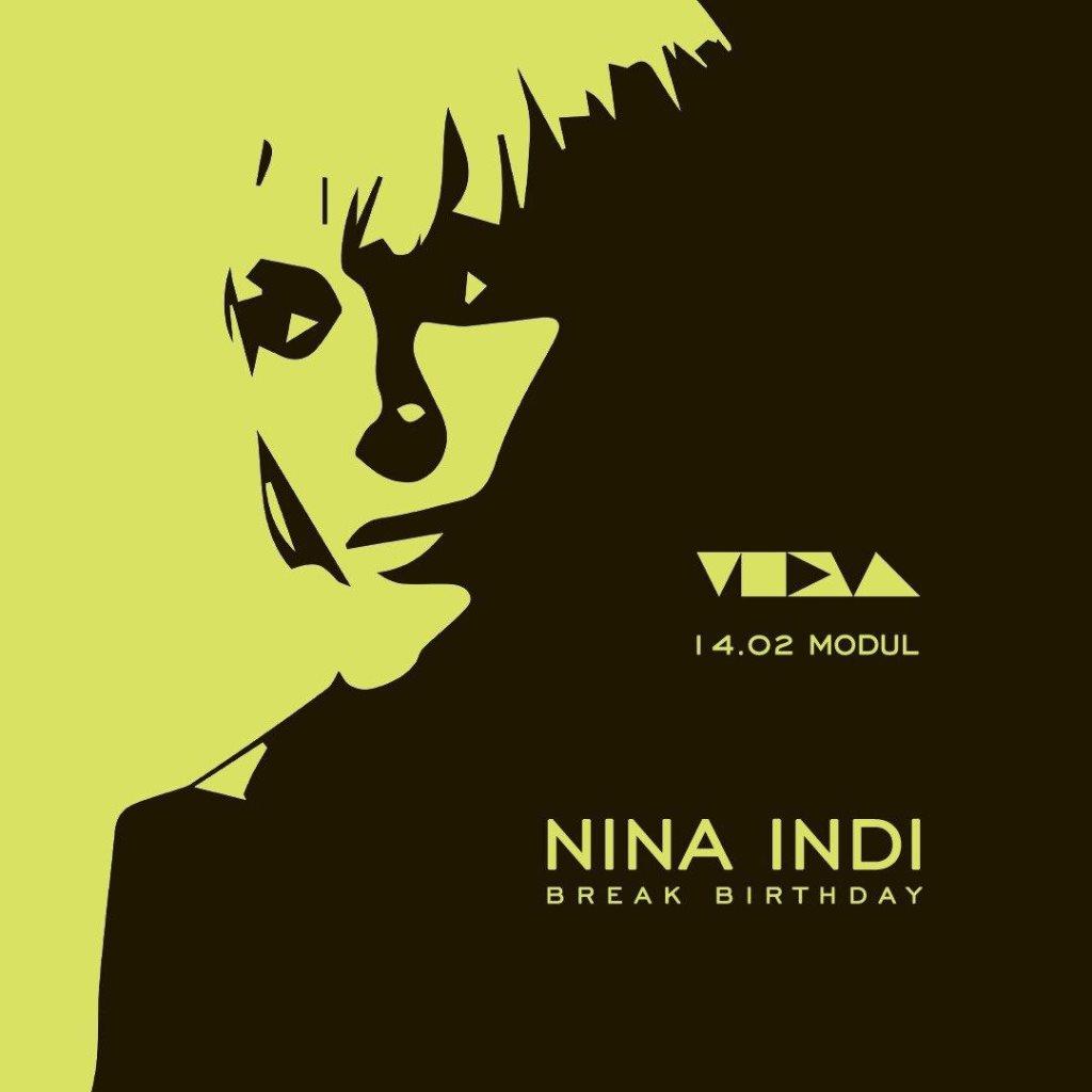 Modul Meets Nina Indi Brake Birthday - Flyer front