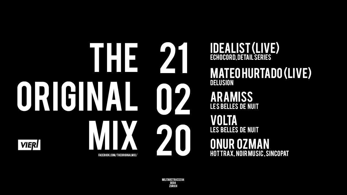 Onur Ozman Pres. The Original Mix - Flyer front