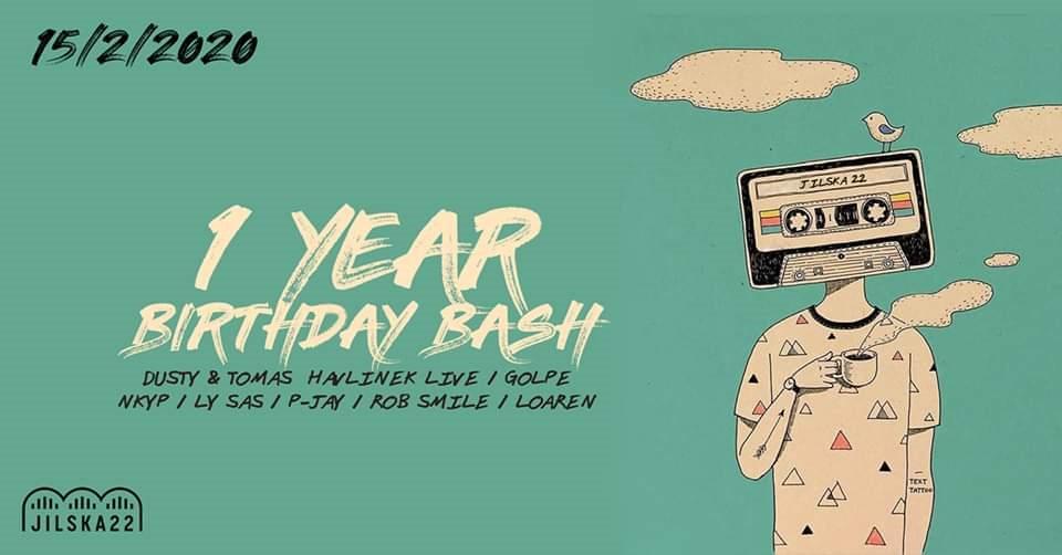 1 Year Birthday Bash - Flyer front