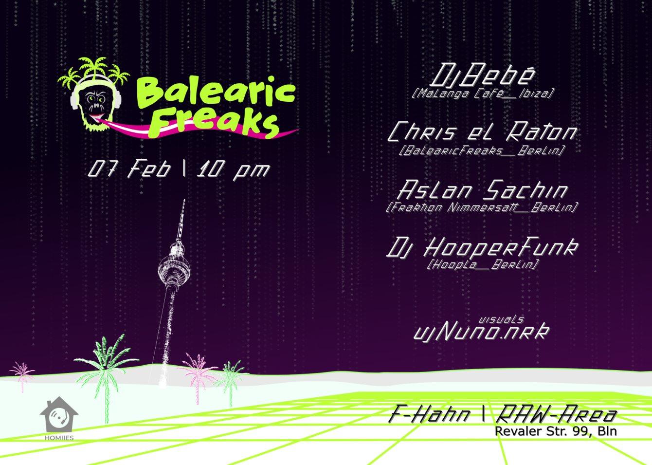 Balearic Freaks - Flyer front