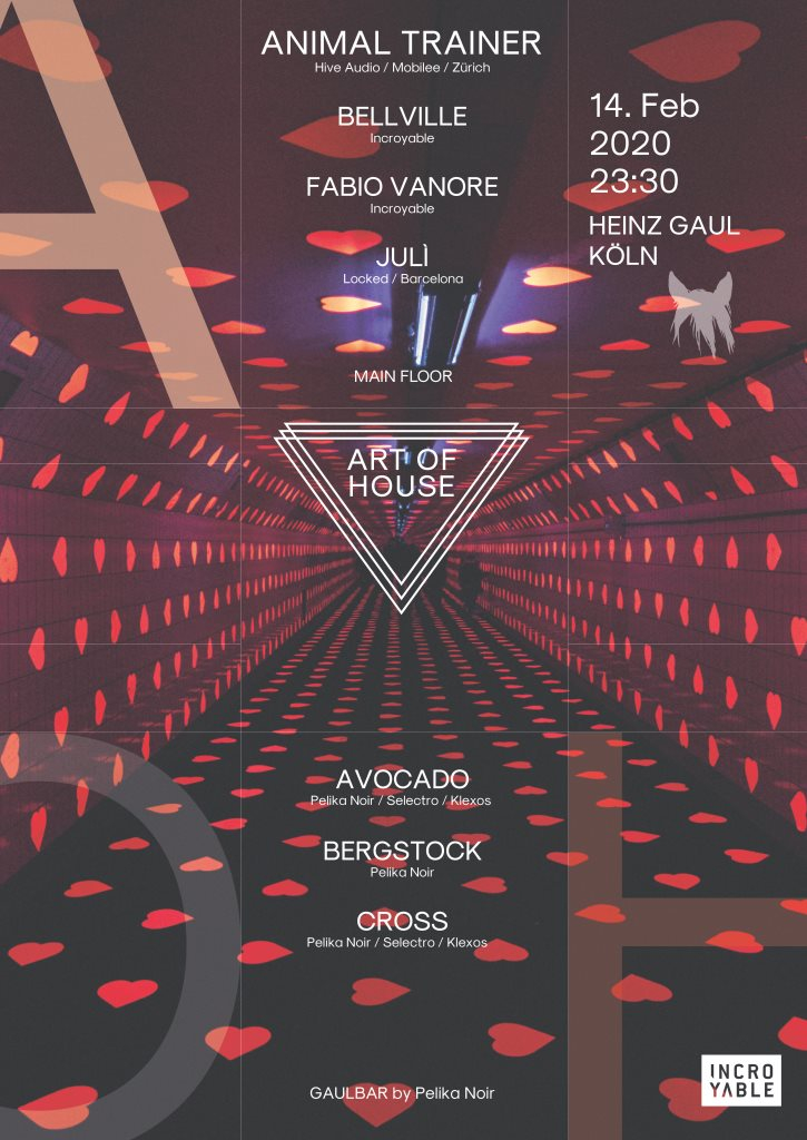 Art of House & Techno with Animal Trainer (Mobilee) & Pelika Noir - Flyer front