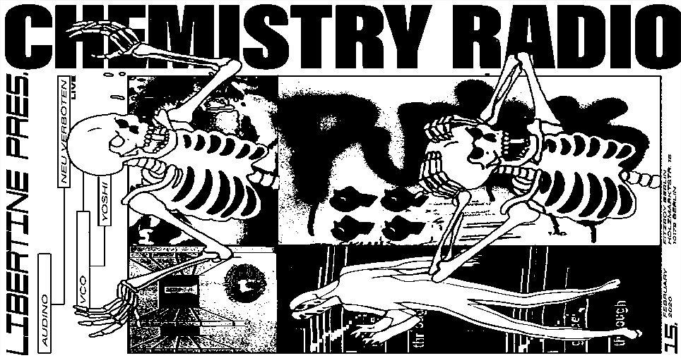 Libertine presents Chemistry Radio - Flyer front