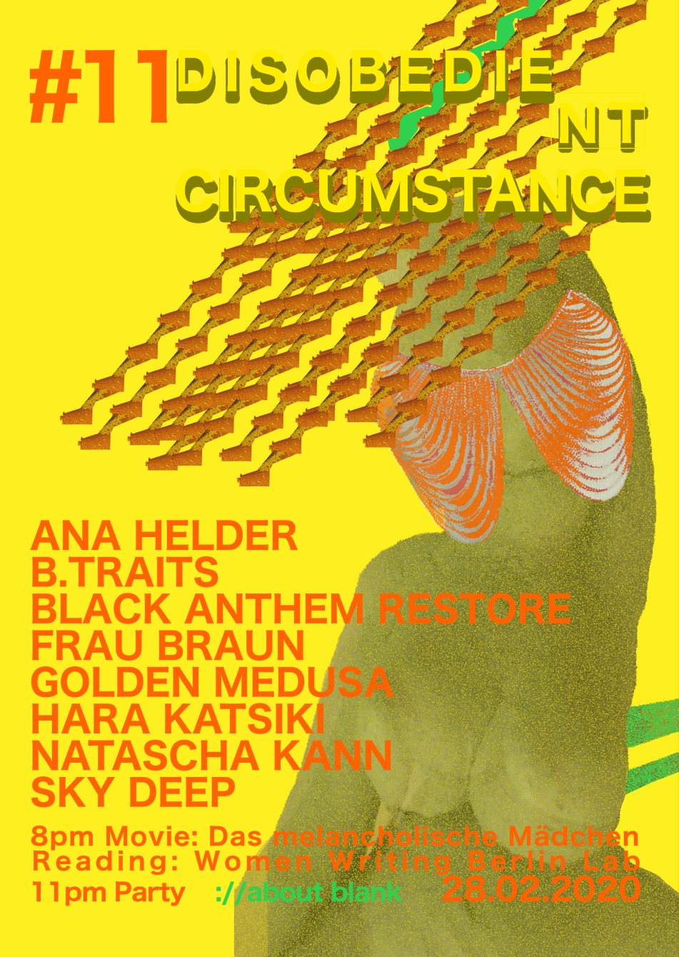 Disobedient Circumstance #11 - Flyer front