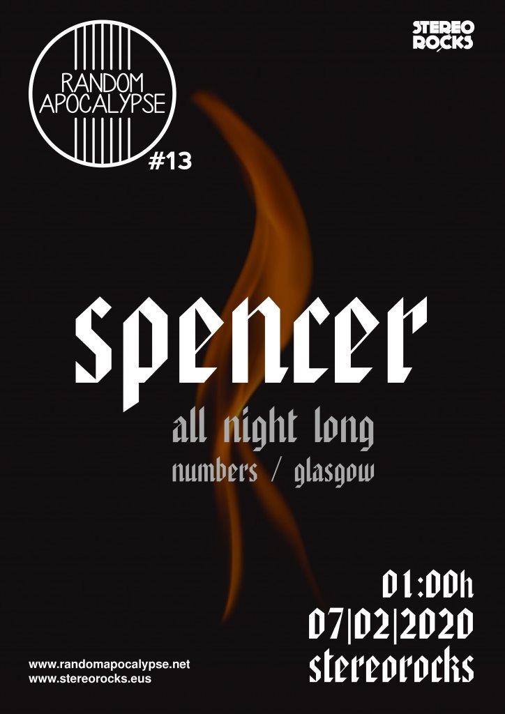 Stereorocks - Random Apocalypse #13: Spencer -Numbers- (All Night Long) - Flyer front