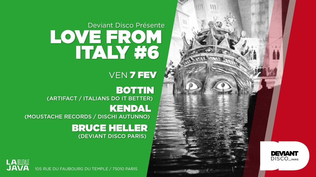 Love From Italy #6: Bottin / Kendal / Bruce Heller - Flyer front