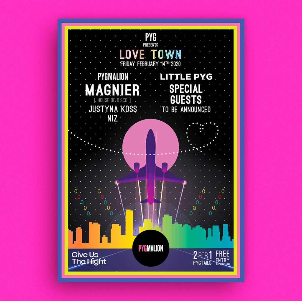 Pyg presents Love Town with Magnier & Quinton Campbell - Flyer front