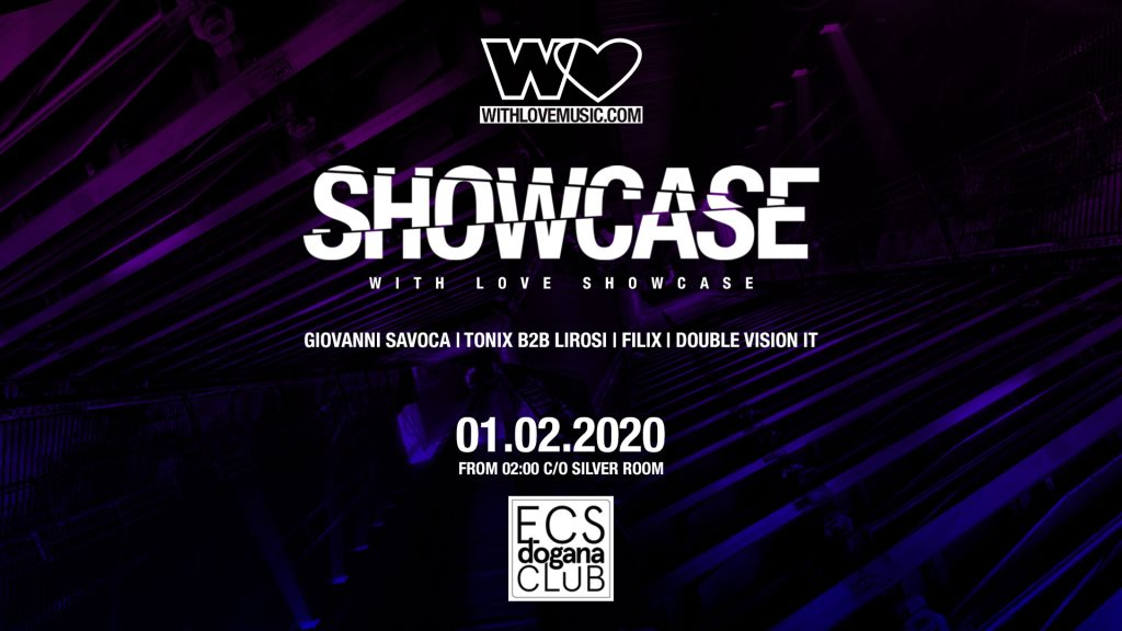 With Love Showcase - Flyer front