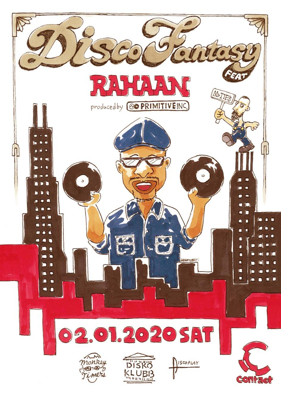 Disco Fantasy Feat. Rahaan & Mr. Ties - Flyer front