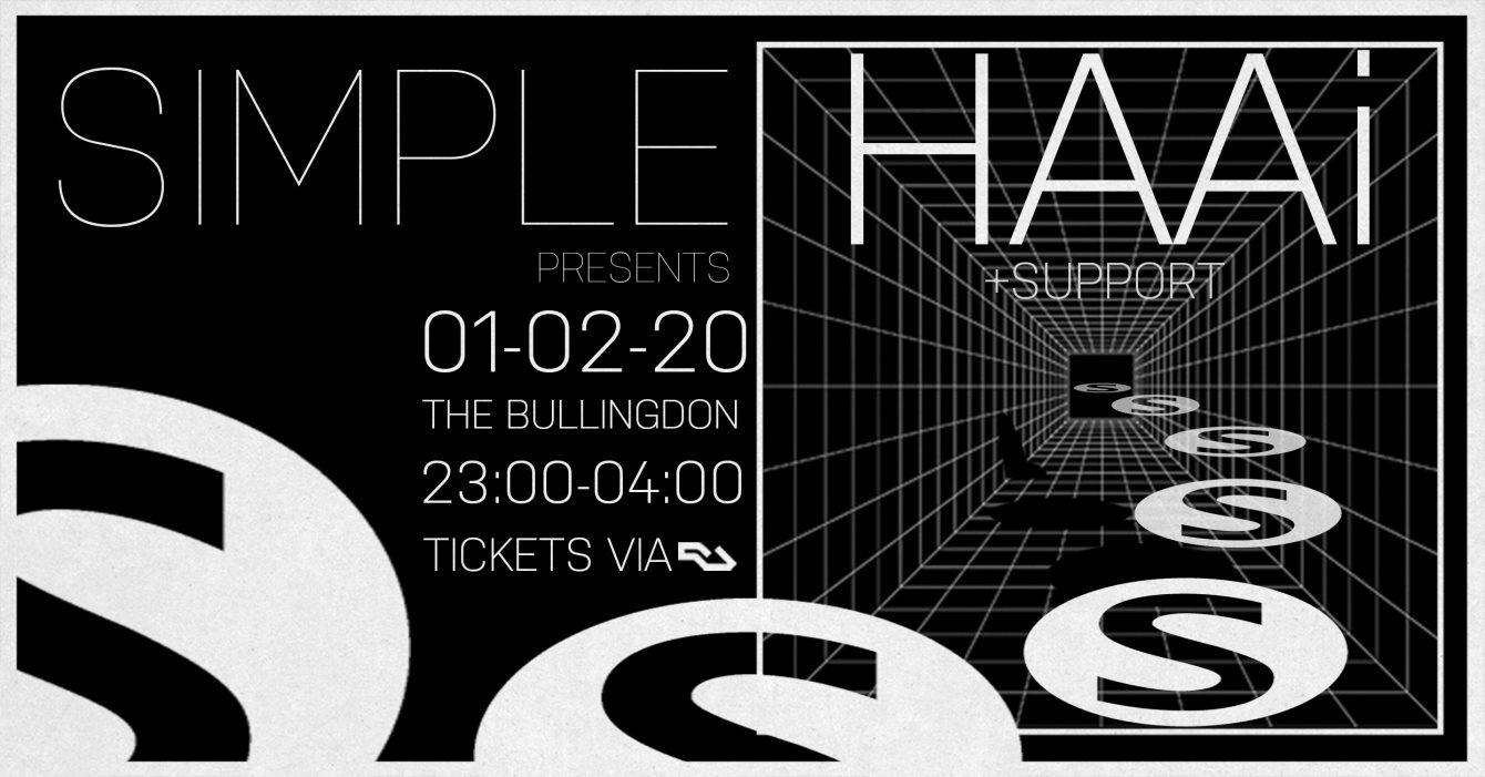 Simple presents HAAi - Flyer front