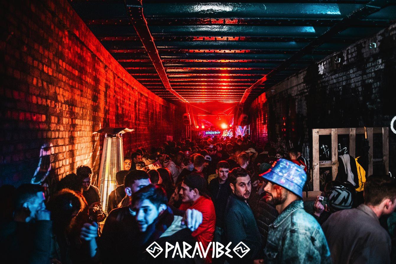 PARAVIBE - Bye January Secret Warehouse Party - Maher Daniel (CA) - Flyer back