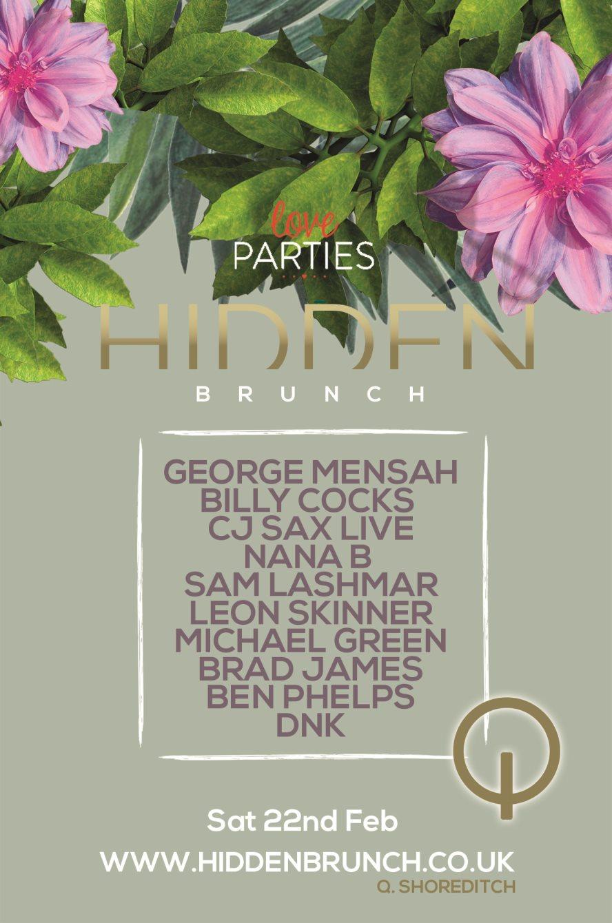 Hidden Brunch & After Party - Flyer front