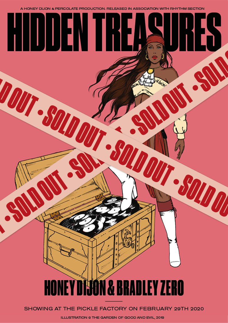 Honey Dijon Pres. 'Hidden Treasures' with Rhythm Section - Sold Out - Flyer front