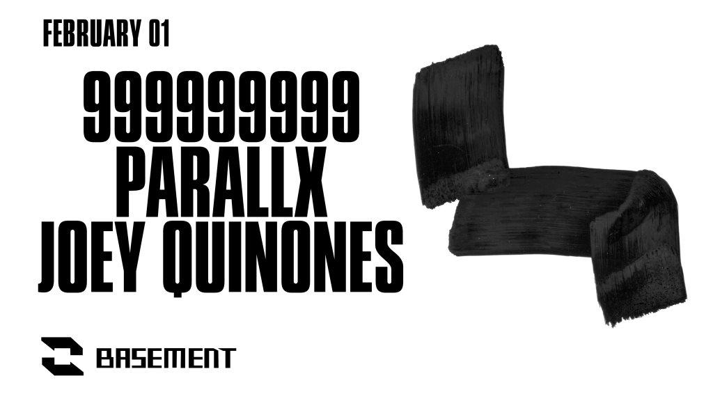 999999999 / Parallx / Joey Quinones - Flyer front