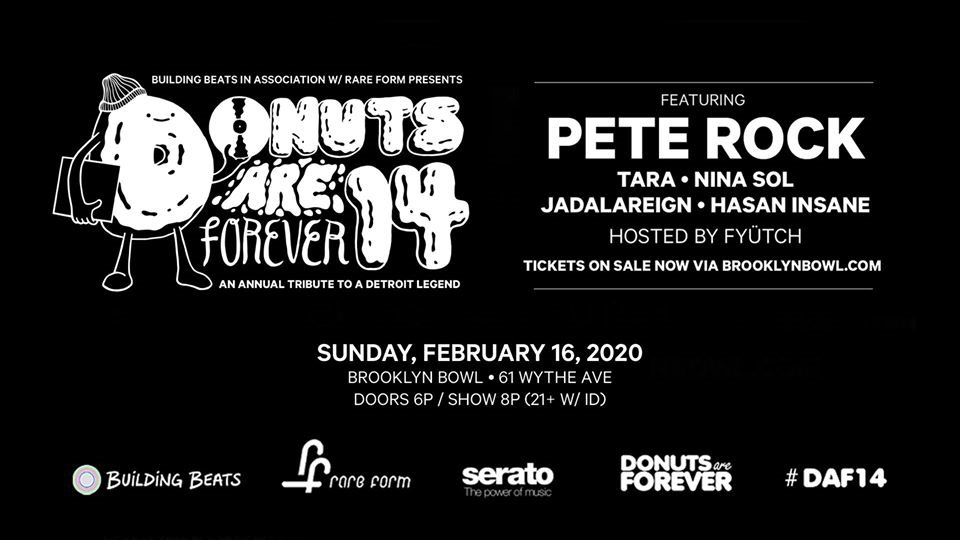 Donuts Are Forever 14 - Flyer front