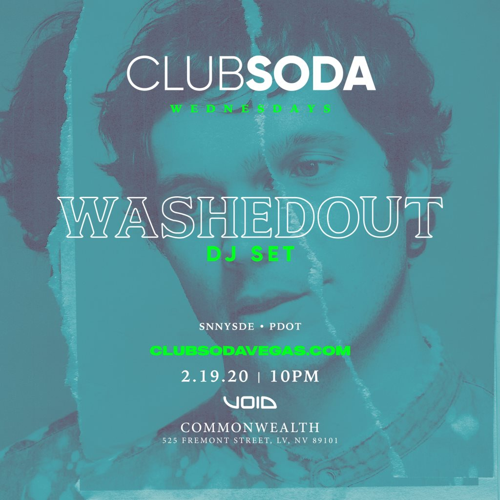Club Soda with Washed Out (DJ Set) - Flyer front