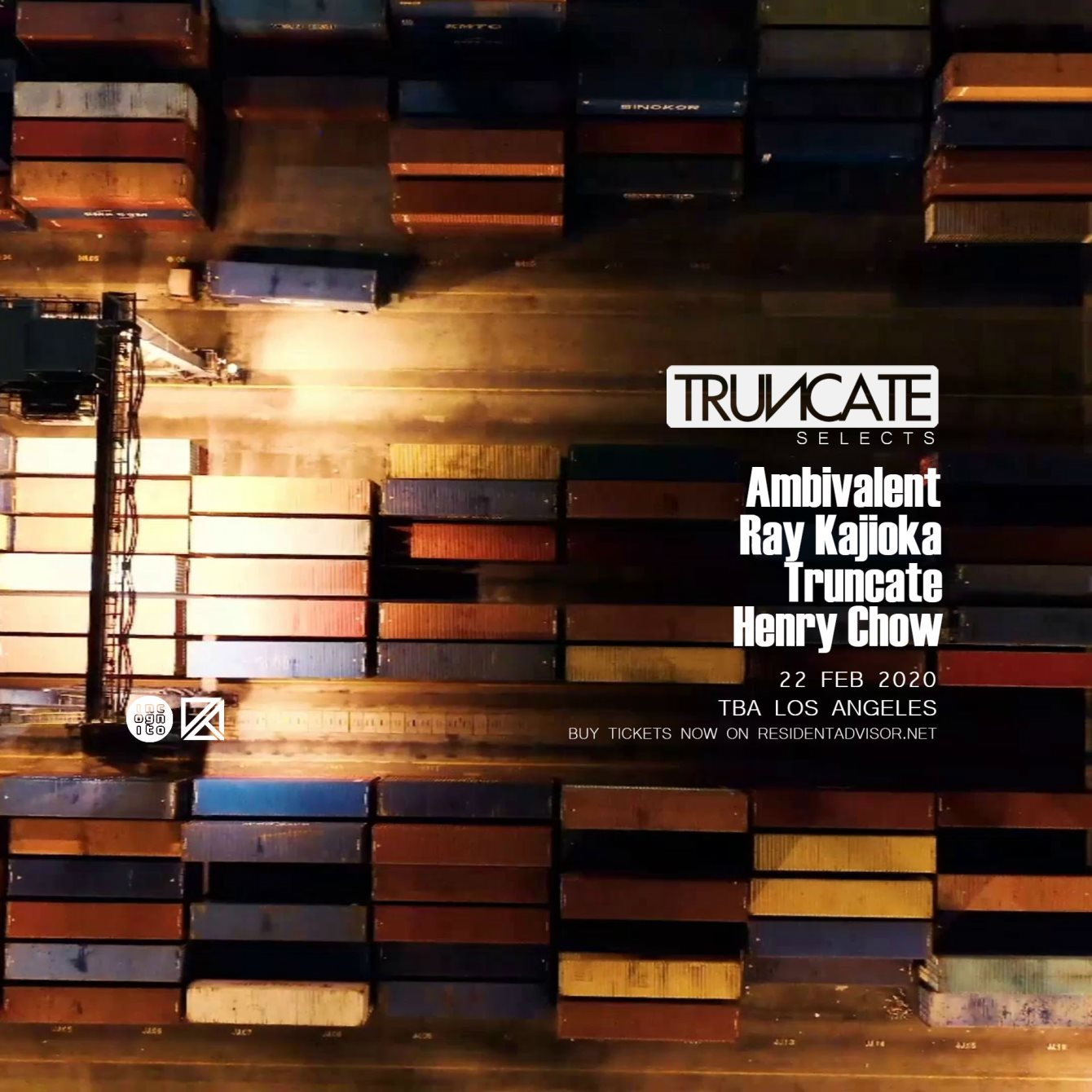 Truncate Selects with Ambivalent, Ray Kajioka, Henry Chow _ Dirty Epic x Incognito - Flyer front