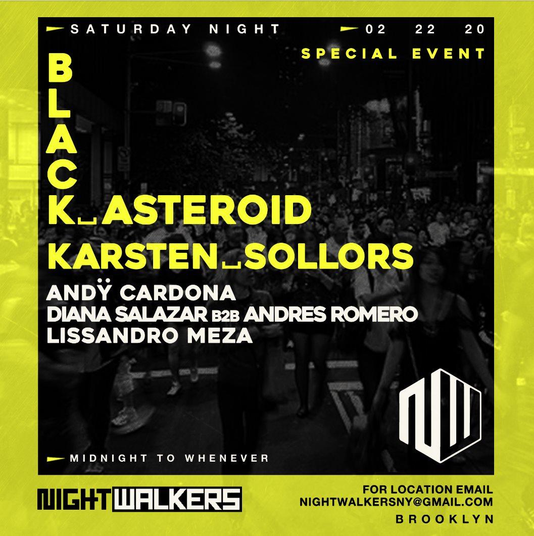 N-W Wiht Black Asteroid/ [Sat Night Feb 22] - Flyer front