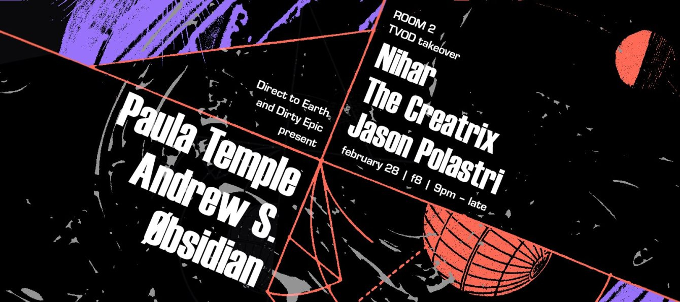 Dirty Epic and Direct to Earth present: Paula Temple SF Debut - Flyer back