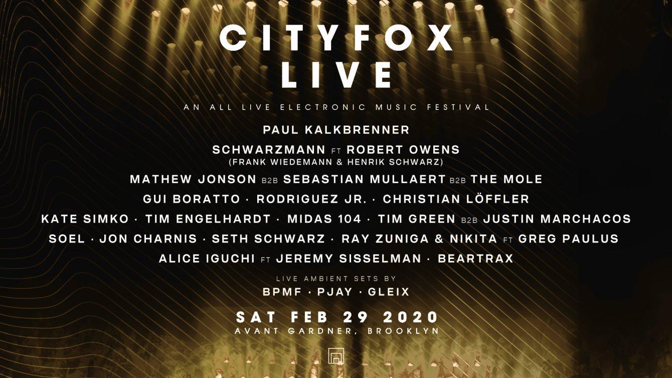 Cityfox Live Festival: Paul Kalkbrenner, Schwarzmann (Frank Wiedemann & Henrik Schwarz) & More - Flyer front