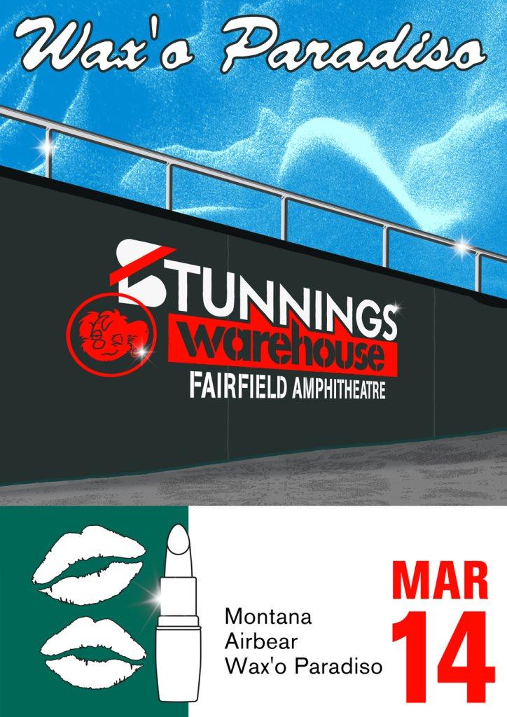 Wax'o Paradiso presents Stunnings Warehouse - Flyer front