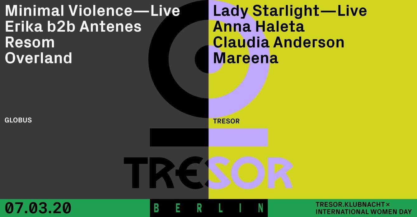 Tresor.Klubnacht x International Women's Day - Flyer front