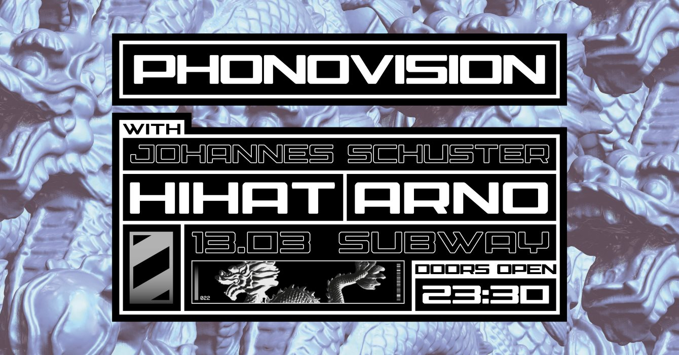 Phonovision with Johannes Schuster, HiHat & Arno - Flyer front