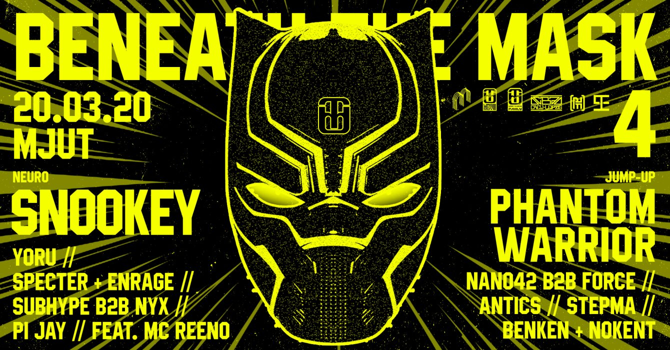 Beneath the Mask 4 with Snookey & Phantom Warrior - Flyer front