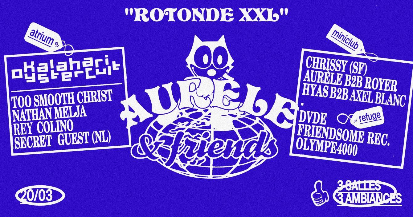 Rotonde XXL: Aurèle & Friends - Flyer front