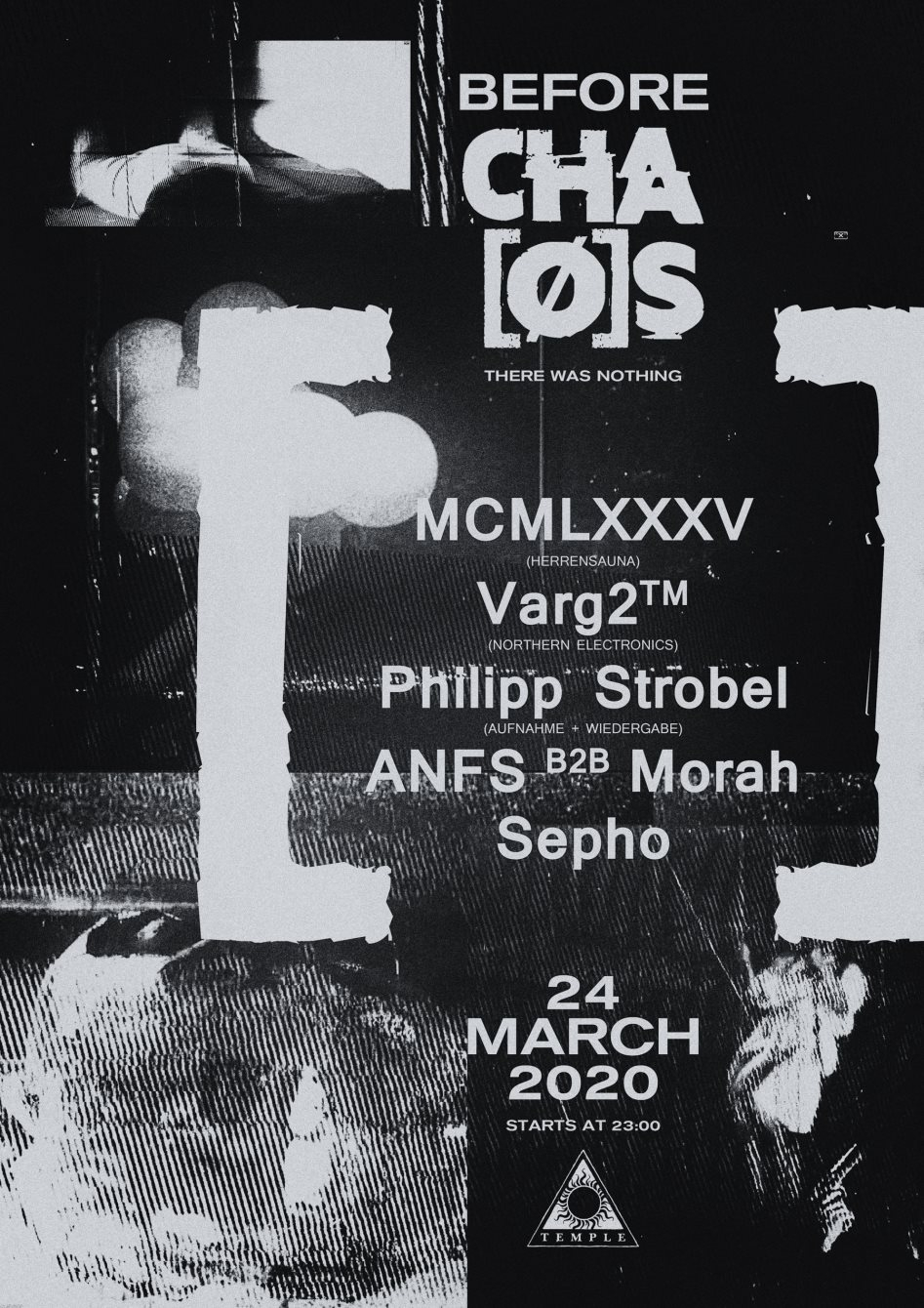 Before CHAØS - Flyer front