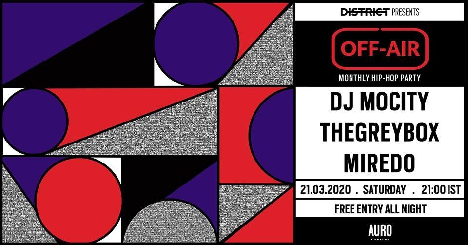Off-Air W/ DJ Mocity, thegreybox & Miredo - Flyer front