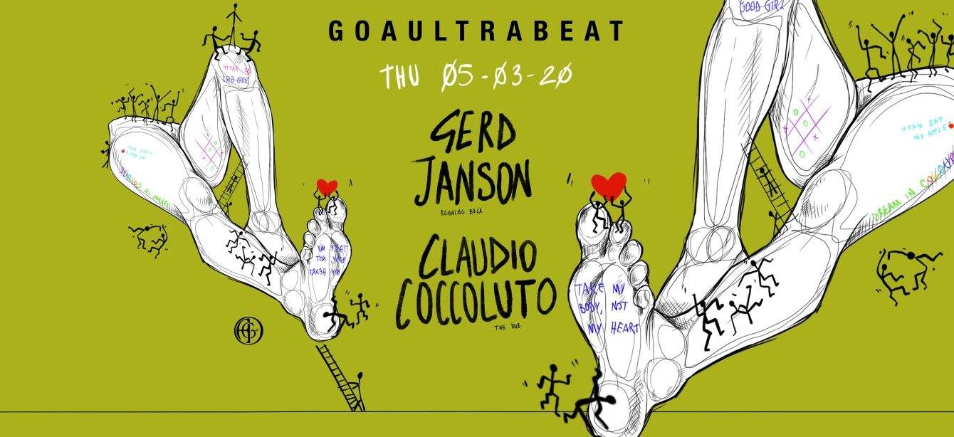 [CANCELLED] Goaultrabeat Pres. Gerd Janson & Claudio Coccoluto - Flyer front