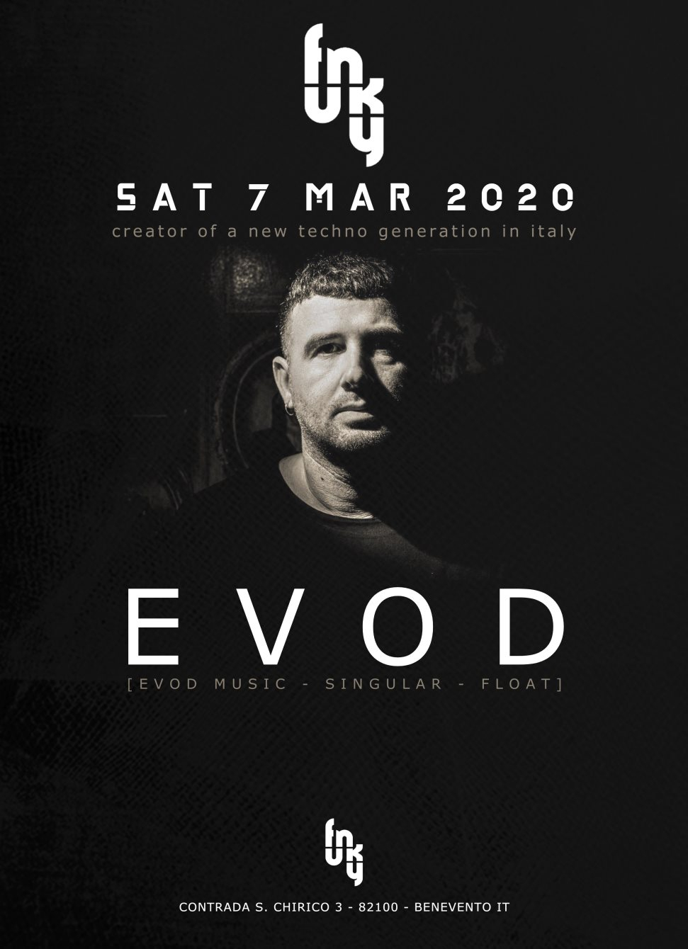 Evod: a Creator of a new Techno Generation in Italy - Flyer front