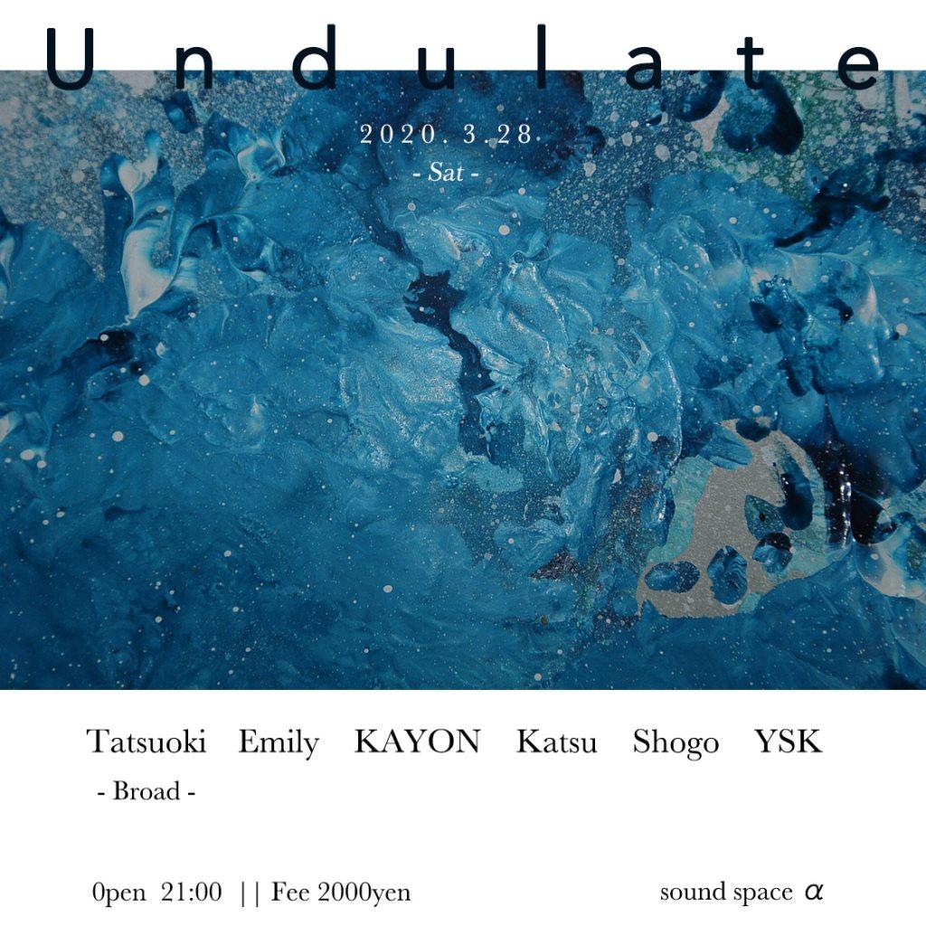 Undulate - Flyer front