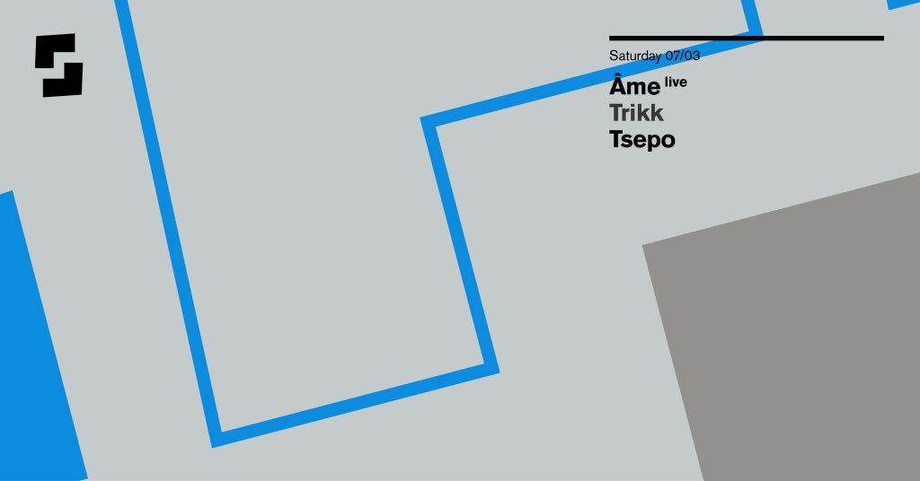 Shelter; Âme (Live), Trikk, Tsepo - Flyer front