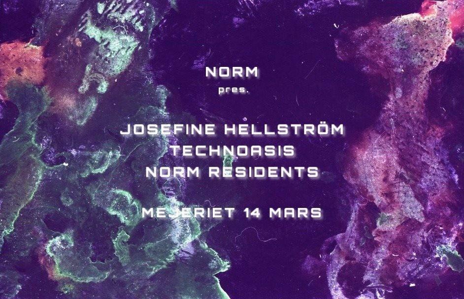 Norm Musik Pres. Josefine Hellström, Technoasis & Norm Residents - Flyer front