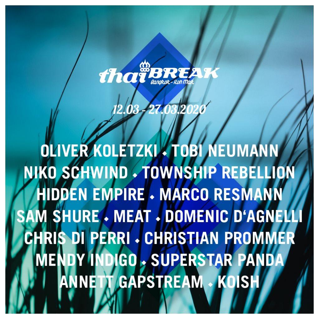 Thaibreak 2020 - Flyer front